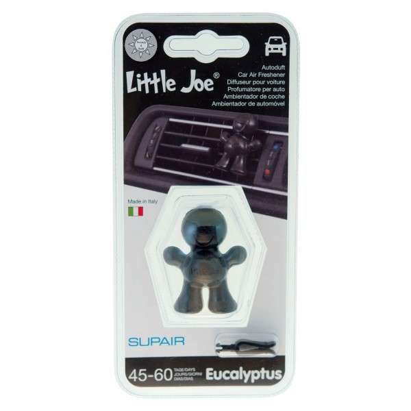 d sodorisant parfum voiture little joe eucalyptus colorie noir aquacars. Black Bedroom Furniture Sets. Home Design Ideas