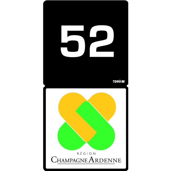 adhesif sticker autocollant pour plaque d 39 immatriculation champagne ardenne 52 aquacars. Black Bedroom Furniture Sets. Home Design Ideas