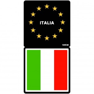 sticker r sine 3d autocollant plaque d 39 immatriculation italie aquacars. Black Bedroom Furniture Sets. Home Design Ideas