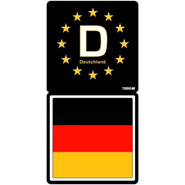 adhesif sticker r sine 3d plaque d 39 immatriculation allemagne deutchland aquacars. Black Bedroom Furniture Sets. Home Design Ideas