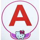 "Stickers Adhésif ""  A "" Jeune Conducteur Hello Kitty"