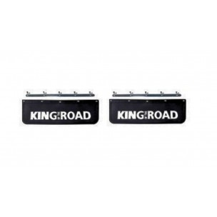 2 Bavettes Poids Lourd 18X60 King Of The Road Noire/Blanche